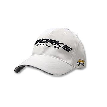 WORKS 精緻緞鏽球帽(白色)