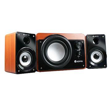 KINYO『原純』2.1聲道三件式全木質防磁擴大喇叭(KY-7360)