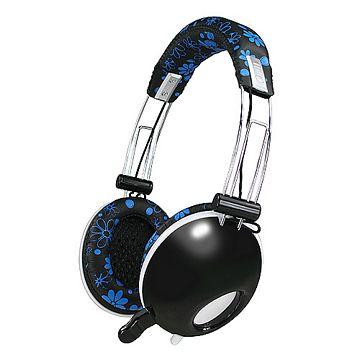 KINYO花繽紛重低音頭戴耳罩式隱藏版耳機麥克風(EM-3628)