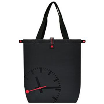 MONDAINE 瑞士國鐵鐘摺疊肩背包-黑