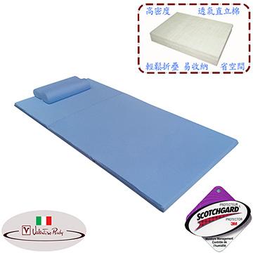【Valentino Rudy】單人吸濕排汗日式透氣床墊+1入記憶枕特惠組