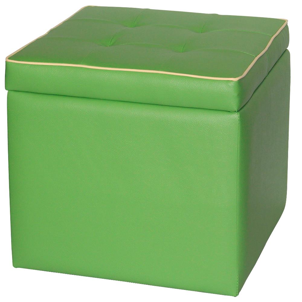 歐邁斯沙發收納椅-粉綠