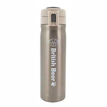 英國熊304不鏽鋼彈蓋保溫瓶500ml-灰