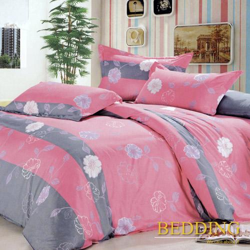 BEDDING花粉世家雙人四件式舖棉床包兩用被組