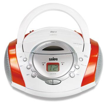 【SAMPO聲寶】手提MP3/CD音響 AK-W709ML