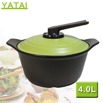 【YATAI雅泰】4.0L養生煲健康陶鍋(綠色)