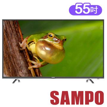 【SAMPO聲寶】55吋低藍光 LED液晶顯示器+視訊盒 EM-55AT17D(含基本安裝)