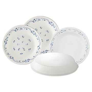 康寧古典藍4件式餐盤組