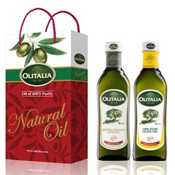 Olitalia奧利塔特級冷壓橄欖油+純橄欖油禮盒組(500mlx2瓶)