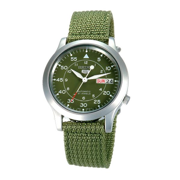 SEIKO精工5號野戰帆布機械錶(軍綠)