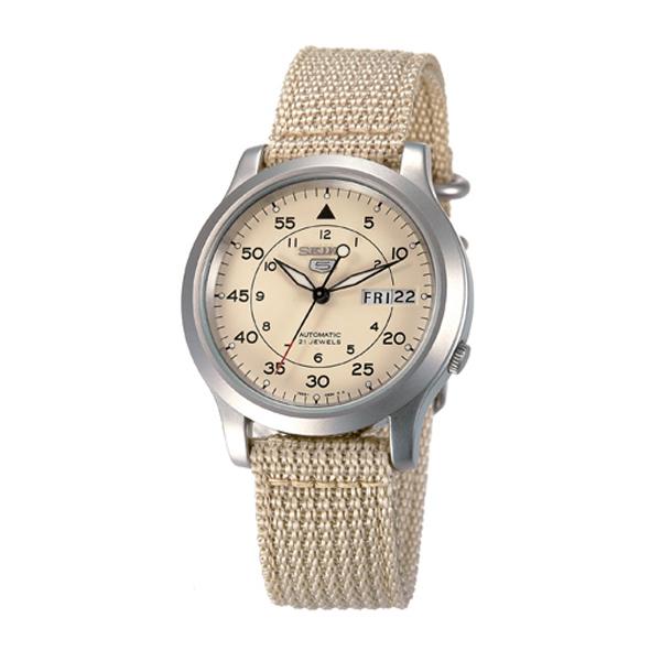 SEIKO精工5號野戰帆布機械錶(卡其)