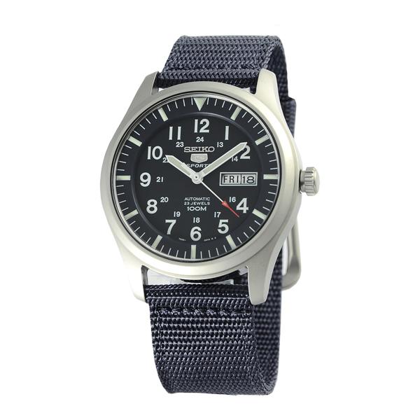 SEIKO精工野戰帆布機械錶SNZG15男錶-黑(日本版)