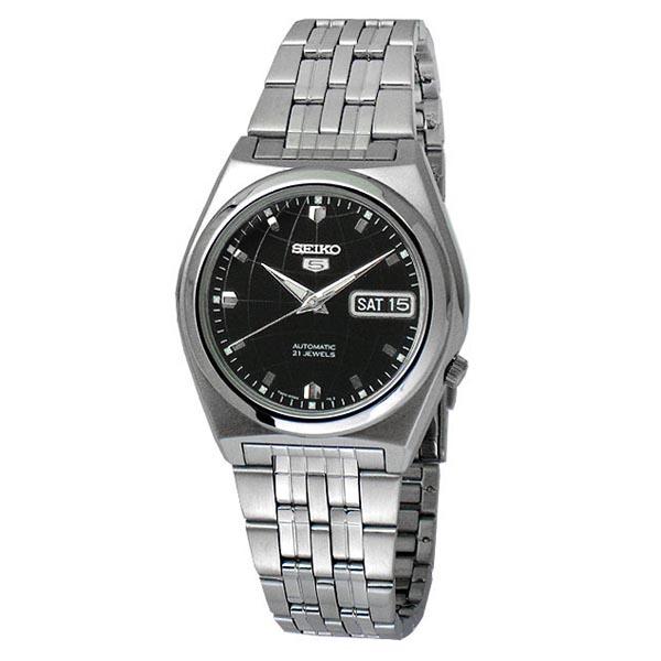 SEIKO精工5號盾牌經典時尚腕錶SNK669-黑面