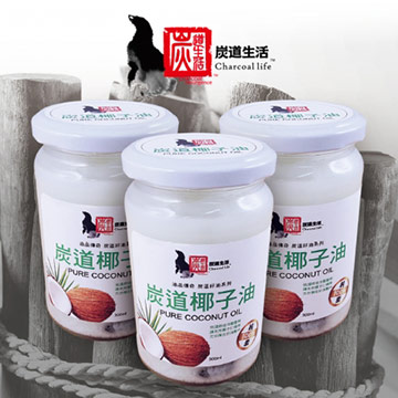《炭道》健康冷壓椰子油1入組(300ml/入)