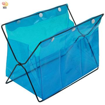 月陽PVC迷你桌上型雜誌架置物架收納盒超值2入(338)