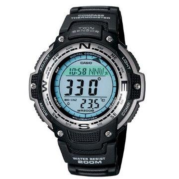 CASIO‧電子羅盤方向溫度多功能登山錶SGW-100-1V