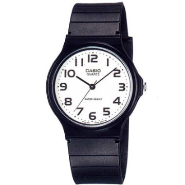 CASIO卡西歐-超輕薄指針錶(膠帶)-MQ-24-7B2(白)