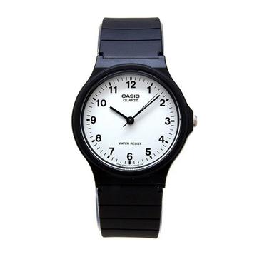 CASIO卡西歐-超輕薄指針錶(膠帶)MQ-24-7B