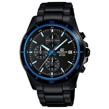 CASIO EDIFICE.精準三眼賽車腕錶(黑色離子IP)EFR-526BK-1A2
