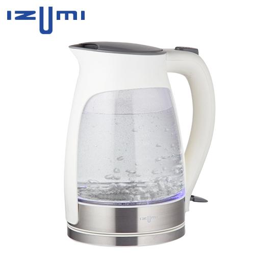 日本IZUMI 1.7L玻璃彩光快煮壺 TEK-100