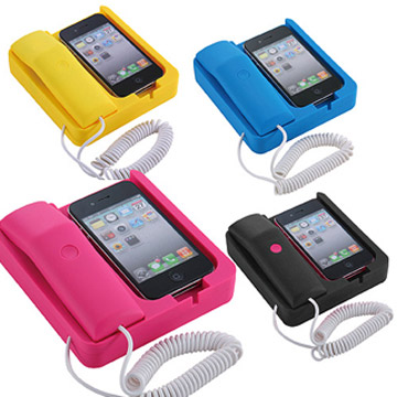 【BRI-RICH】iphone專用復古風電話專享座機/手機話筒(免插電)-粉紅色