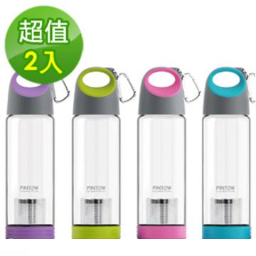 【御工匠】PASTON強化玻璃隨意泡茶杯460ML(2入)-顏色隨機