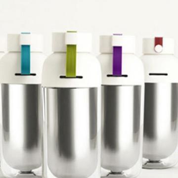 【御工匠】PASTON多彩創意不鏽鋼雙層隨身杯(2入)-顏色隨機