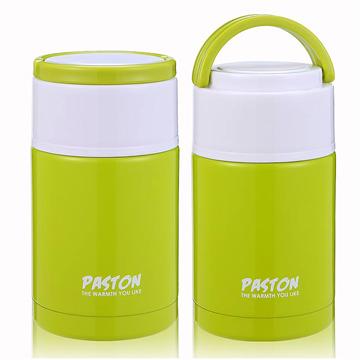【御工匠】PASTON 304不鏽鋼燜燒罐1000ML(買一送一)-蘋果綠