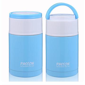 【御工匠】PASTON 304不鏽鋼燜燒罐1000ML(買一送一)-雲朵藍