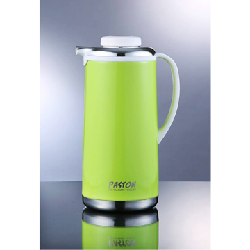 【御工匠】PASTON真空不鏽鋼免插電保溫壺1.9L(5色可選)-晶亮綠