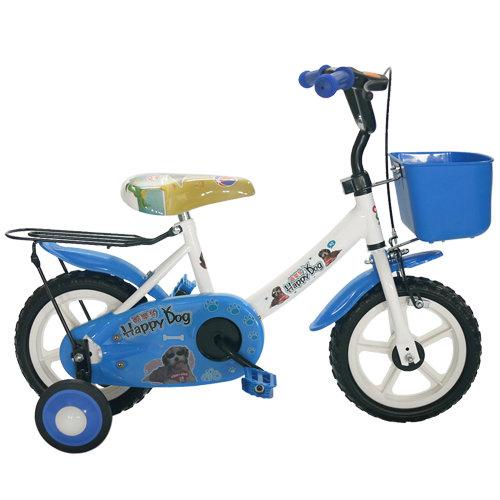 Adagio 12吋酷樂狗輔助輪童車附置物籃-藍色