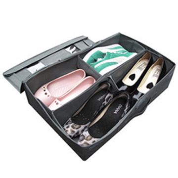 SoEasy 竹炭4格視窗鞋靴整理箱42L-可自由分隔