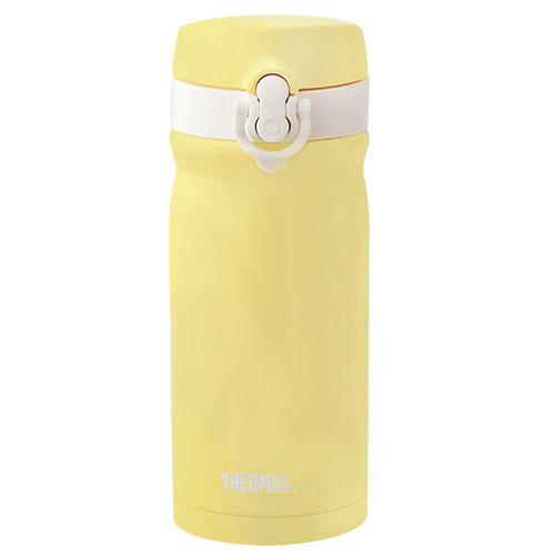 THERMOS膳魔師不鏽鋼真空保溫瓶350ml-檸黃歐蕾【JMY-352MR】