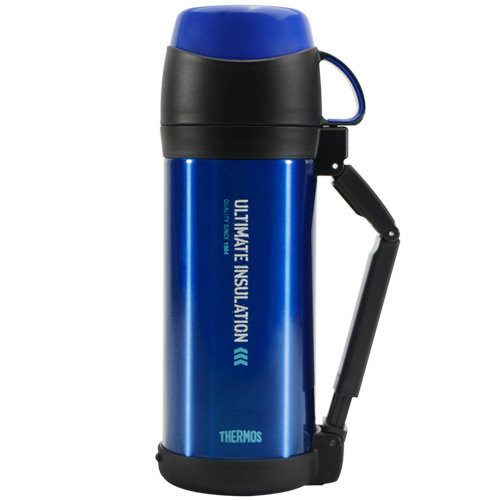 THERMOS膳魔師 不鏽鋼真空保溫瓶1000ml-藍色【FFW-1000】