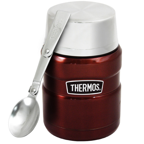 THERMOS膳魔師 不鏽鋼真空保溫杯瓶470ml-咖啡紅CP6【SK3000】