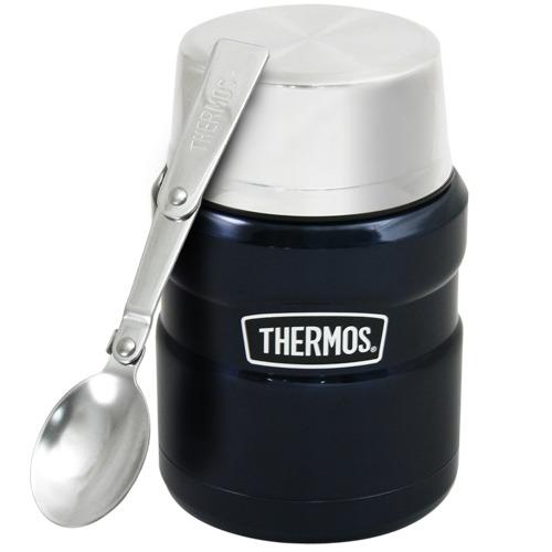 THERMOS膳魔師不鏽鋼真空保溫杯瓶470ml-深藍色MB6【SK3000】