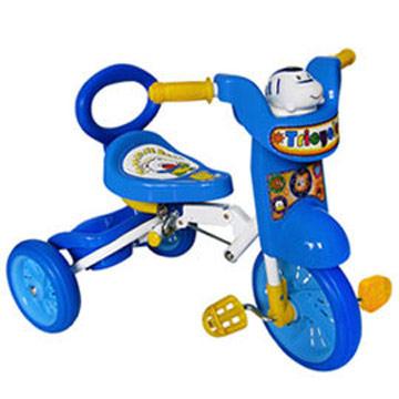 寶貝樂 兒童折疊式三輪車-藍色