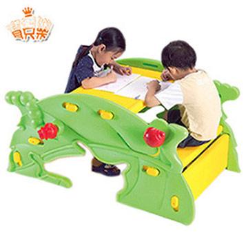 寶貝樂 樹葉兩用桌(書桌+搖椅)~台灣生產