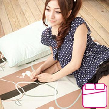 床之戀 輕巧租屋型雙人冬夏兩用三摺涼蓆床墊5x6尺