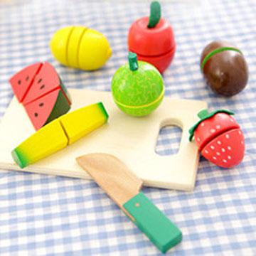 樂兒學 水果切切樂木製學習積木