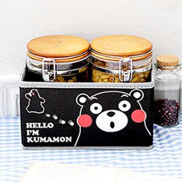 Kumamon酷MA萌 橫式化妝品文具收納盒