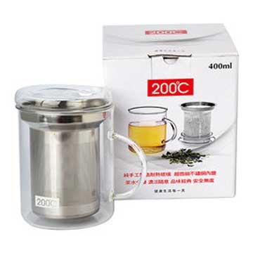 Artist 純手工不鏽鋼玻璃泡茶杯/花茶杯400ml
