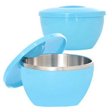 MoLiFun魔力坊PF系列 316不鏽鋼碗隔熱碗大容量1000ml-天空藍