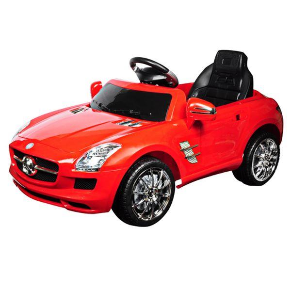 宾士附遥控儿童电动车-璀璨红