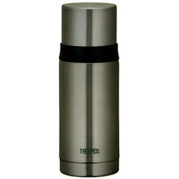 THERMOS膳魔師 不鏽鋼真空彈蓋保溫瓶保溫杯350ml-銀灰色【FEI-351】
