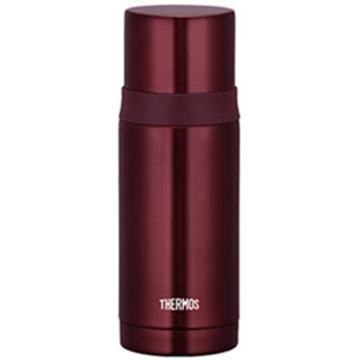 THERMOS膳魔師 不鏽鋼真空彈蓋保溫瓶保溫杯350ml-咖啡色【FEI-351】