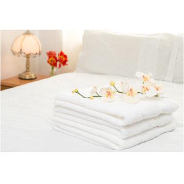 【法式寢飾花季】典雅風情-純白五星飯店級厚織大浴巾3入組