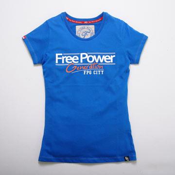 【FPGSTYLE 】FPG CITY短T恤(女)寶藍L