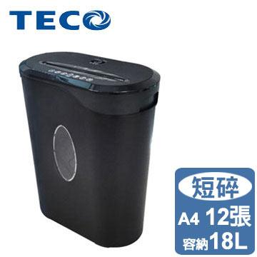 TECO東元 多功能12張短碎式碎紙機(XYFOS12P)
