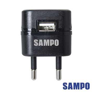 SAMPO 聲寶  USB萬國充電器轉接頭1A(EP-UB0BU1-黑色1入)